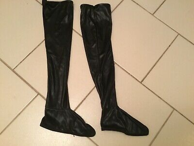 boot covers black for fancy dress with bat tights new