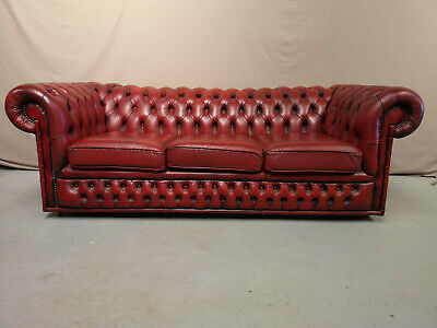 Canape Chesterfield Rouge Trois Places