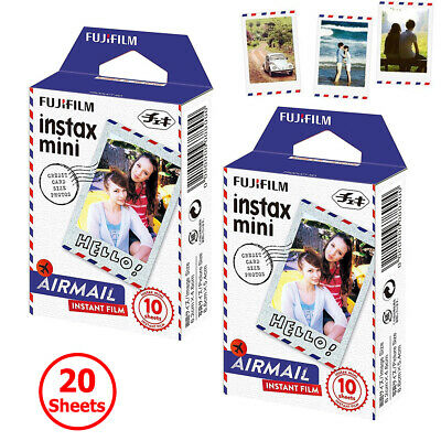 Fujifilm Instax Mini Film Airmail 20 Sheets Photo For Fuji Instant 7s 8 9 Camera