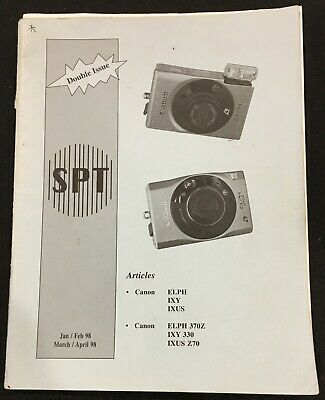 OEM SPT Society of Photo Technologists Double Issue Jan-April 1998 Canon ELPH...