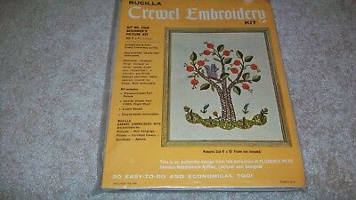 Vintage Bucilla Crewel Embroidery Kit 1568 Beginner'S Picture Kit Florence Peto