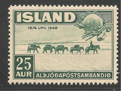 Iceland #253 (A49) VF MNH - 1949 25a Pack Train and UPU Monument, Bern