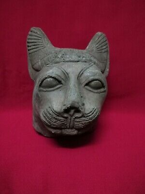 Ancient Egyptian Antiquities rare Head of God Bastet (1323 BC)