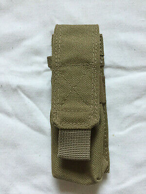 Molle/PALS knife/torch holder pouch in coyote brown