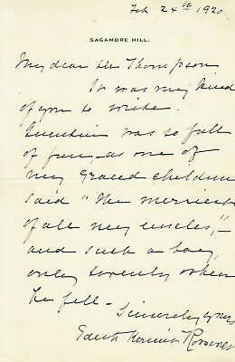 EDITH KERMIT ROOSEVELT. First Lady. Her thoughts about son QUENTIN killed in WWI