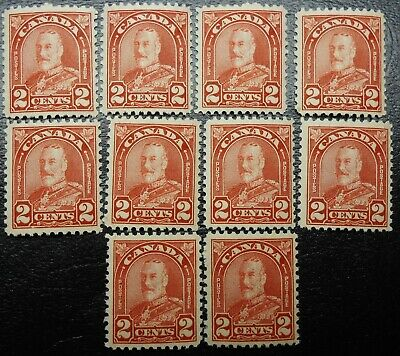Canada 10 x 165, Mint Never Hinged (Lot DJS)