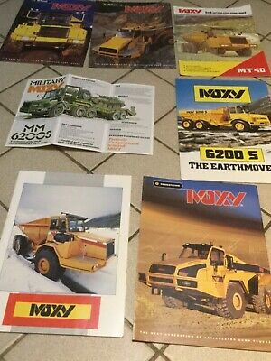 MOXY ARTICULATED DUMPTRUCK COLLECTION1990s  &1 VERY RARE MILITARY MM6200s