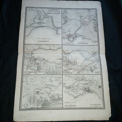 Card Surrounding area of'Athens Atlas History and Geographical