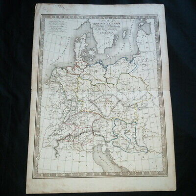 Map the Germania old of the Rhétie of Pannonia by CalvinV. Monin