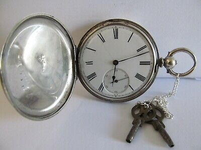 Antique pocket watch full hunter fine silver very good condition and working ??