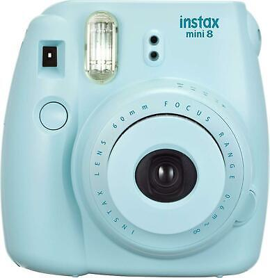 Fuji Instax Mini 8 Fujifilm Instant Film Camera (BLUE)