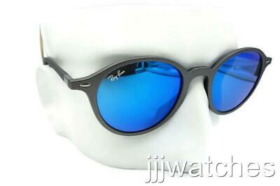 3fc566123f New Ray Ban Liteforce Round Gray Blue Flash Sunglasses RB4237 6206 17 50-21