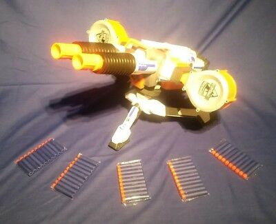 NERF N STRIKE RHINO FIRE,  AUTOMATIC MACHINE GUN complete + 50 New darts 1