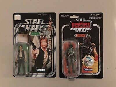 Star Wars Vintage Collection VC09 Boba Fett ESB Card AND Han Solo Trilogy
