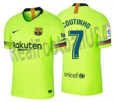 a11db2187 Nike P. Coutinho Fc Barcelona Authentic Vapor Match Away Jersey 2018 19  Patches.