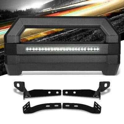 Square Textured Bull Bar Grill Guard+License Bracket+LED Bar For 16-18 Tacoma