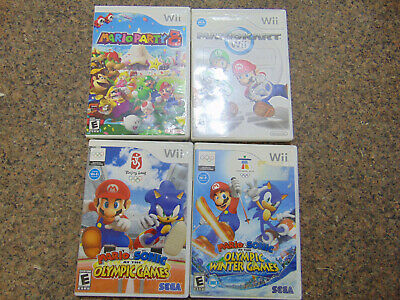 Mario Party 8,Mario Kart,Mario & Sonic Olympic games  4 Wii Games Total