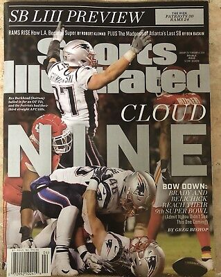 Sports Illustrated New England Patriots Super Bowl Liii Preview January 2019