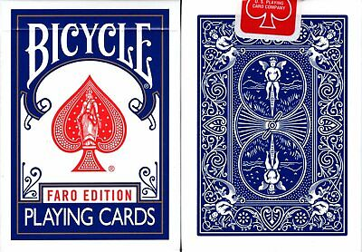 Faro Edition Blue Bicycle Playing Cards Poker Size Deck USPCC Custom Limited New