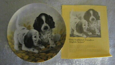 1989 English setter Puppy Plate by Lynn kaatz offered by Edwin m Knowles China