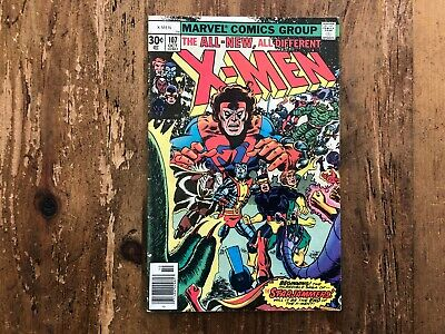 X-MEN #107 The Uncanny, 1st Full Starjammers, Wolverine, Marvel Comics 1977 A