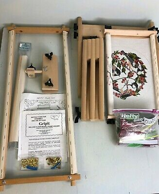 Gripit Deluxe Floor Model Frame Holder for Needlepoint Embroidery Sewing Project