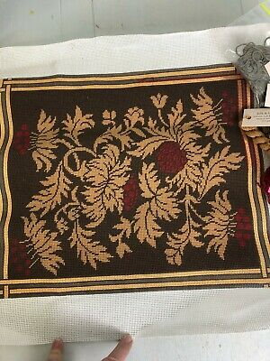 Handpainted Needlepoint Canvas DV93? - Preworked Finished except for Border