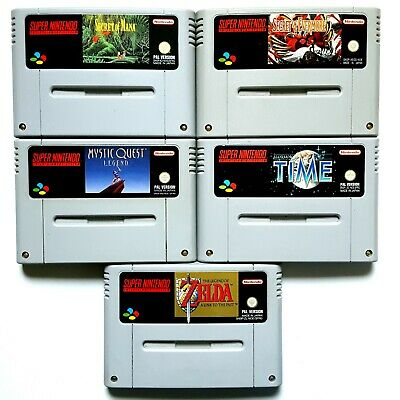 SNES Spiele Secret of Mana Evermore Illusion of Time Mystic Quest Zelda RPG