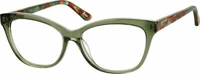 24f9e871e6e Zenni Optical 4433824 Cat-Eye Glasses Frames + Case Prissy Librarian Green