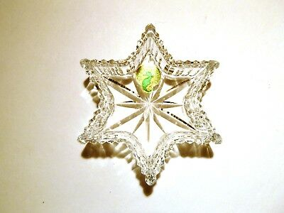 """NEW *VINTAGE* Waterford Crystal STAR Tray 3 7/8"""" Made in IRELAND"""
