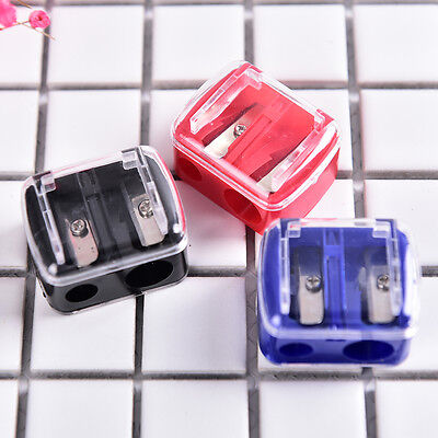 Precision Cosmetic Pencil 2 Holes Sharpener for Eyebrow Lip Liner Eyeliner XC