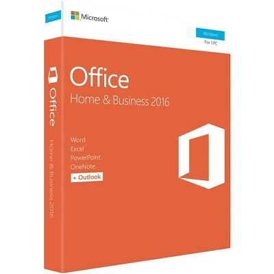 Microsoft Office Home & Business 2016 (32/64-bit) No DVD Retail Box SP2