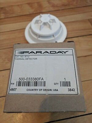 NIB FARADAY 8712 ADDRESSABLE HEAT THERMAL DETECTOR (Free Shipping)
