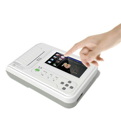 Color Touch 6 Channel EKG Machine ECG Monitor Electrocardiograph Software USB