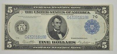 1914 $5 Blue Seal Federal Reserve of Chicago Large Note - Fr. 871b *5867