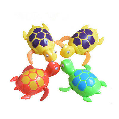 Turtle Swimming Pool Bath Time Animal Clockwork Floating Kid Baby Toy JT
