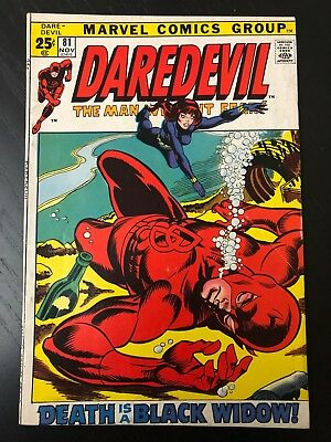 Daredevil #81(Nov 1971) Giant Size issue w/Black Widow and Fan Four reprint