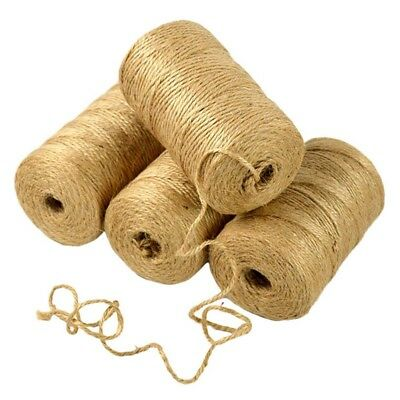100M/Roll Natural Jute Rope Twine String Cord DIY Scrapbooking Craft Making Home