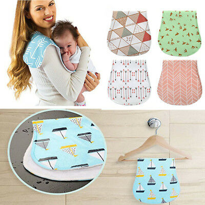 4-Pack Fashion Baby Burp Cloths Organic Cotton Soft and Absorbent Towels Burping