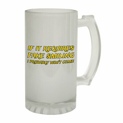 Beer Stein if requires fake Funny Novelty Christmas Birthday Frosted Pint Glass