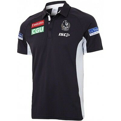 Collingwood Magpies Media Performance Polo 2018. New with tags.