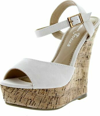 a30117cdc FASHION FOCUS WOMEN'S Ardo-39 Wedge Sandals Slides - $32.95 | PicClick