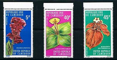 Cameroon stamps, 1975 Flowers #794-6, Scott 599-601 MNH