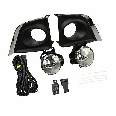 Clear Fog Lights Lamps+Switch+Wiring Fit 2014-2016 Toyota Corolla Ce L Le Bumper