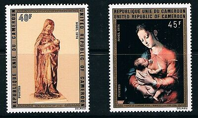 Cameroon stamps, 1974 Christmas #790-1, Scott 597-8 MNH