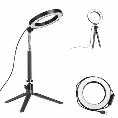 """13"""" LED Ring Light w/ Stand 5500K Dimmable Lighting Kit Makeup Phone Cam 3600LM"""