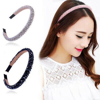 Women's Headband Rhinestone Crystal Bead Hairband Alice Band Hair Accessories