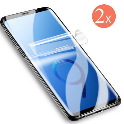 2x Panzer Folie 3D Samsung Galaxy S8 / S8+ Display Schutz Folie Full Cover KLAR
