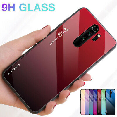 For Xiaomi Redmi 7A 7 6A 6 5 Note 8 7 6 5 Pro Gradient Tempered Glass Case Cover