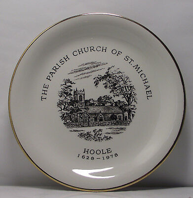 PARISH CHURCH OF ST MICHAEL HOOLE 1628-1978 COMMEMORATIVE PLATE by Wood & Sons